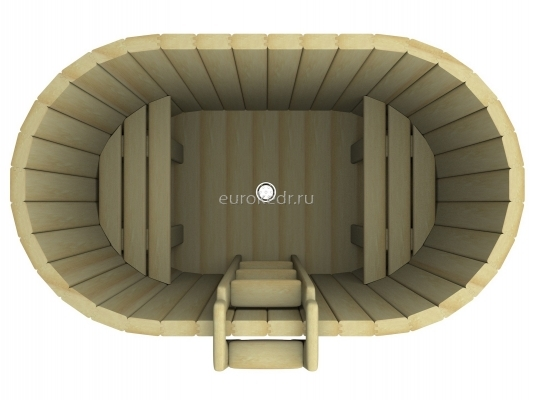Купель овальная 1200x1400x780 мм