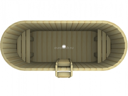 Купель овальная 1200x2200x780 мм