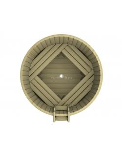 Круглая купель 1500 x1500x1200 мм