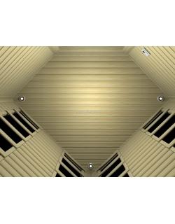 Трехместная угловая ИК сауна с карбоновыми излучателями