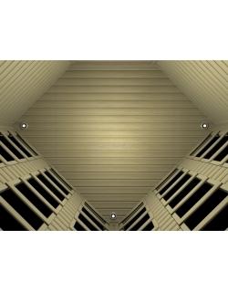 Четырехместная угловая ИК сауна с карбоновыми излучателями